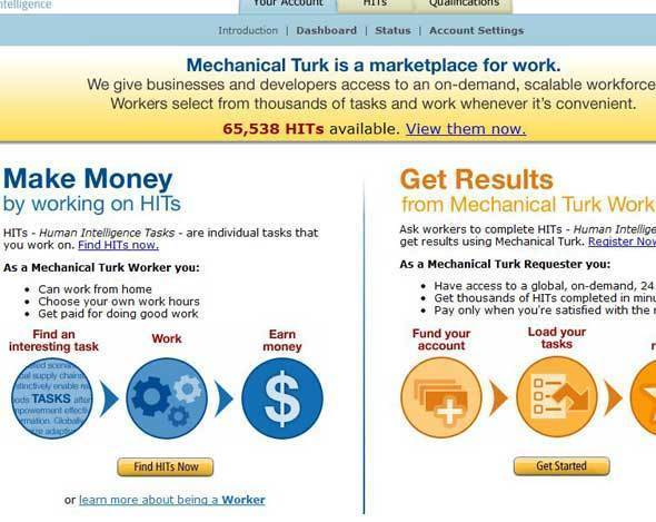 Amazon's Mechanical Turk
