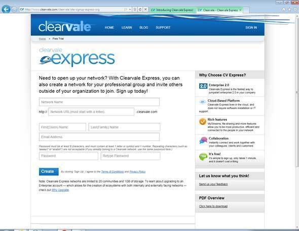 Broadvision's Clearvale Express Offers Free Social Media Capabilities