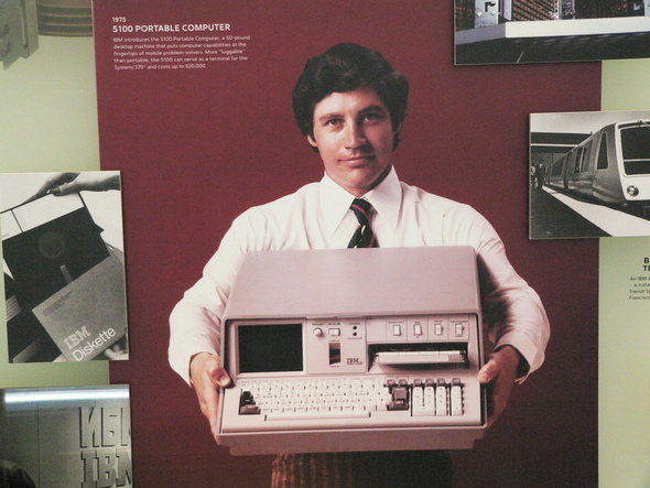 "IBM's First ""Portable"" Weighs A Ton"