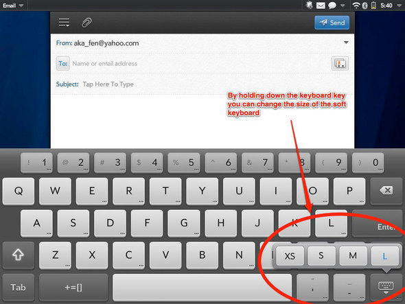 WebOS Soft Keyboard