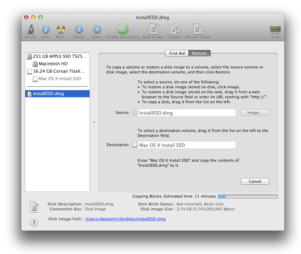 How To Create an OS X 10 7 USB Install Drive - InformationWeek