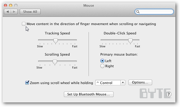 How To Reverse Scrolling Direction in OS X 10 7 Lion