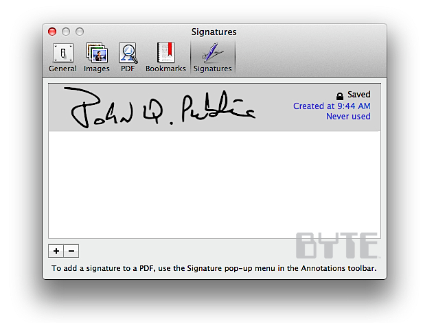 How To Add PDF Signatures In OS X 10.7 Lion - InformationWeek