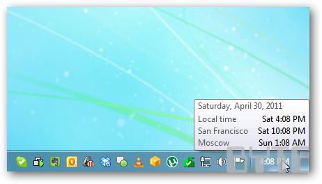 How To Add Multiple Time Zone Clocks in Vista and Windows 7