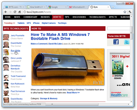 Use a Quick Key Combo To Get Back Lost Tabs in Chrome - InformationWeek
