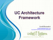 Slideshow: UC Architecture Framework