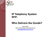 Slideshow: How the Vendors Scored in Enterprise Connect's IPT RFP